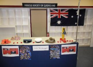 ANZAC Day display featuring Under the Queen's Colours