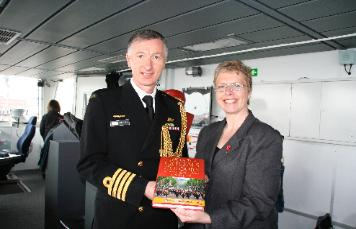 Capt Simon O'Brien and Penny Legg, Portsmouth 2012