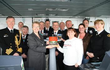Under the Queen's Colours supporters aboard HMS Dragon, Portsmouth 2012